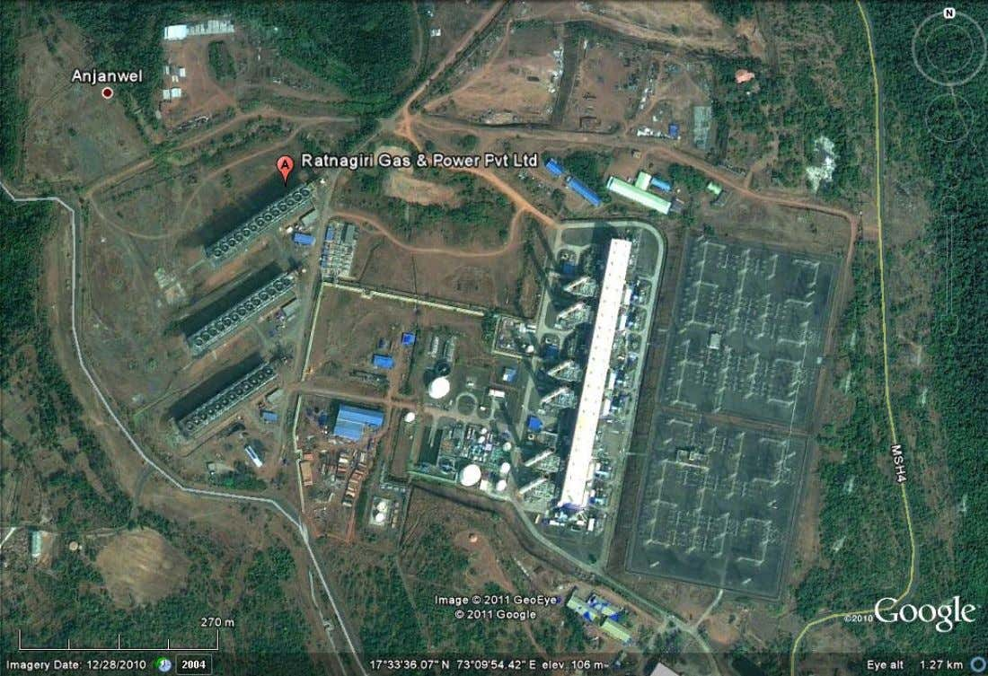 Known as Dabhol Power Plant – Satellite Image (close up). (Adapted from: Google Earth) Semester September