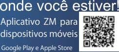 Aplicativo ZM para dispositivosmóveis GooglePlayeAppleStore
