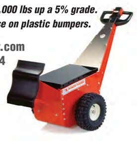 000 lbs up a 5% grade. e on plastic bumpers. .com