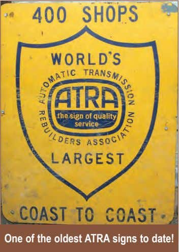 One of the oldest ATRA signs to date!