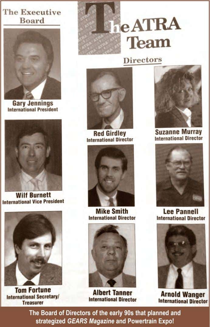 The Board of Directors of the early 90s that planned and strategized GEARS Magazine and