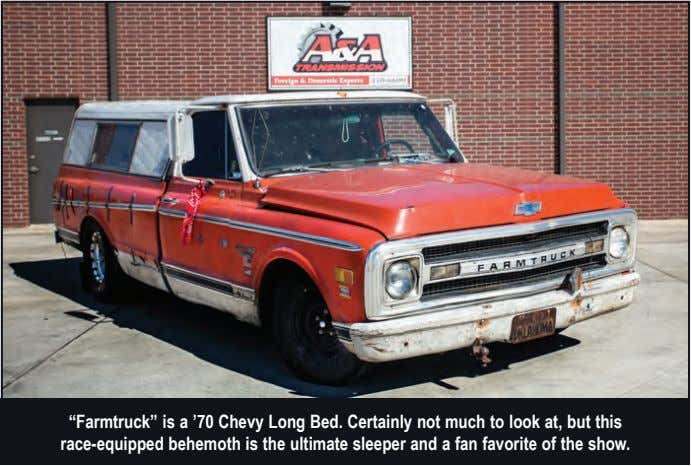 """Farmtruck"" is a '70 Chevy Long Bed. Certainly not much to look at, but this"