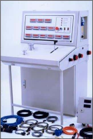 Probes and interface box are supplied as standard equipment. PIPER P15 Desk type instrument console digitally
