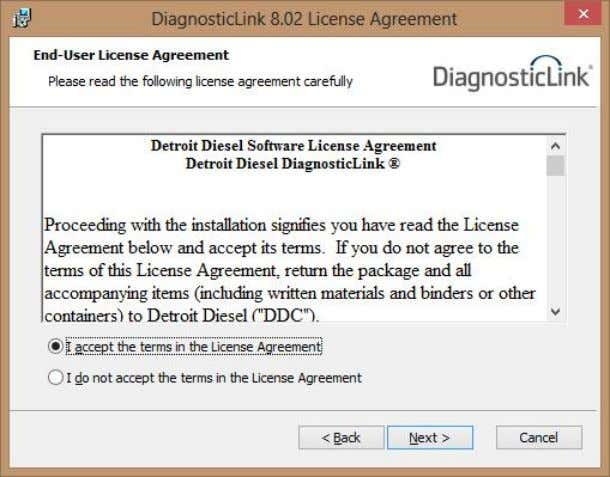 instructions. 5.6 INSTALL DIAGNOSTICLINK (CONT.) Accept terms and conditions to continue and click Next. Page 13