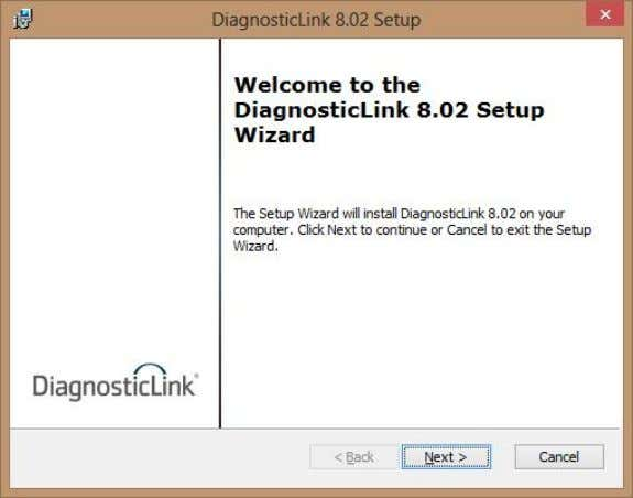 Click Next to continue and follow Setup Wizard instructions. 5.6 INSTALL DIAGNOSTICLINK (CONT.) Accept terms and