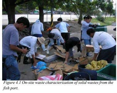 Figure 4.1 On-site waste characterization of solid wastes from the fish port.