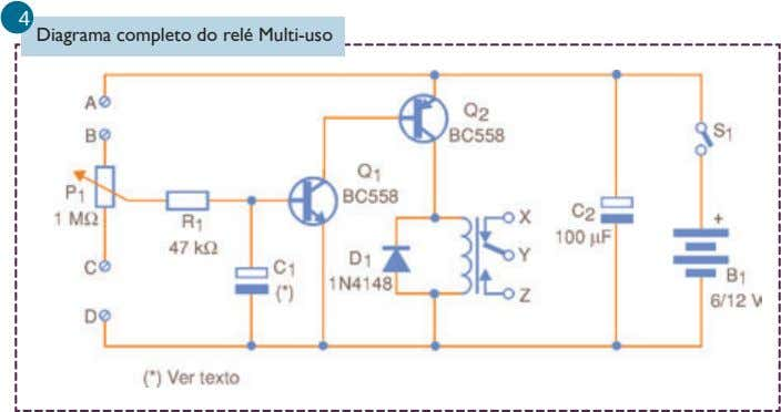 4 Diagrama completo do relé Multi-uso