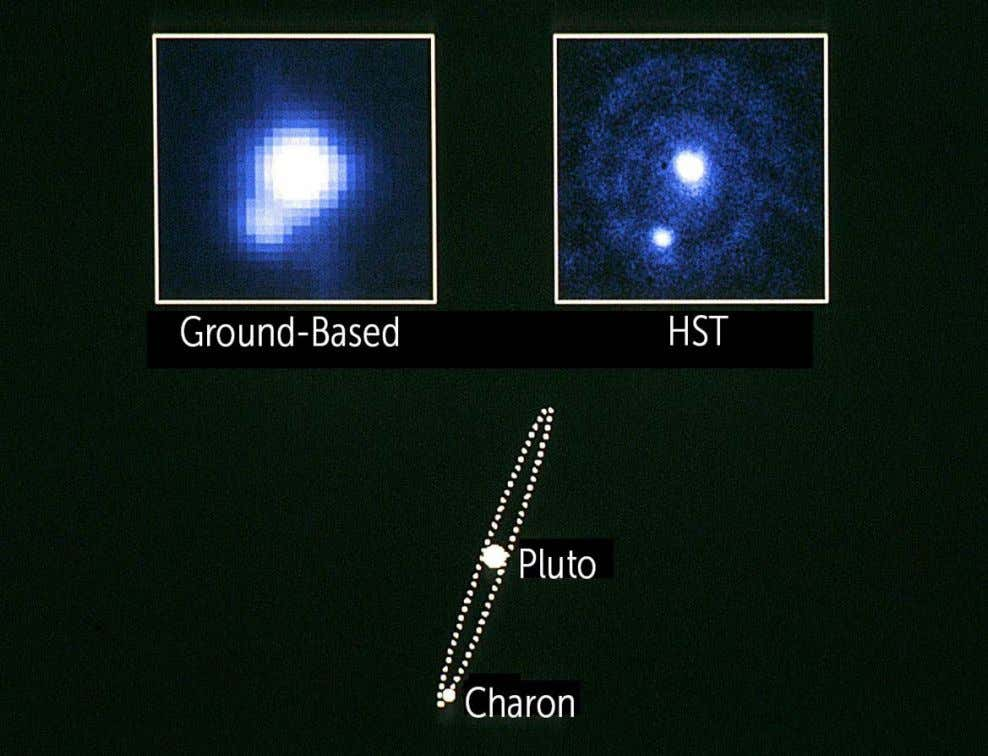 Soon after its launch in 1990, Hubble obtained the first picture that clearly separated Pluto and
