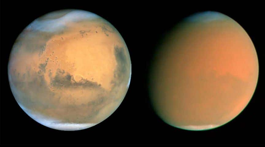 explore the Martian environment on local scales, Hubble has the ability to monitor the activity on