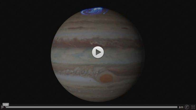 In this movie, a series of Hubble images shows Jupiter ' s Great Red Spot shrinking