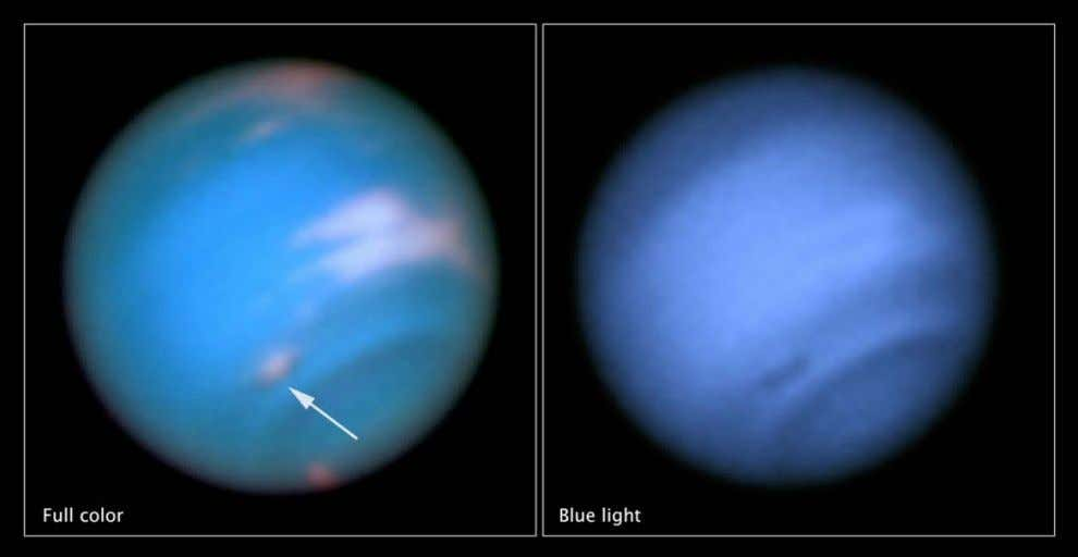 In May 2016, Hubble spotted a new dark vortex on Neptune. Observations by Voyager 2 and