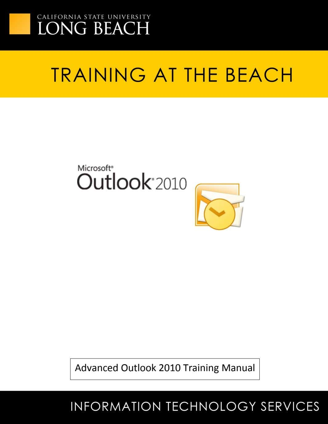 Advanced Outlook 2010 Training Manual 1