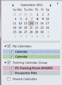 will now see the new calendar group you have created with all Calendars listed that you