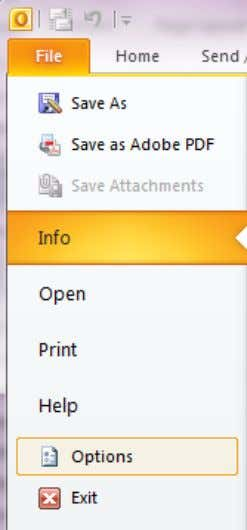 Outlook for to File > Options > Customize Ribbon First we will create a new Ribbon