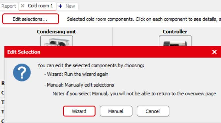 so that only the needed corrections have to be entered. Figure 9.2 Editing the wizard 9.2.2