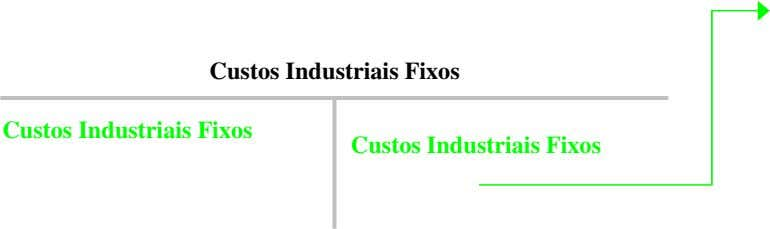 Custos Industriais Fixos Custos Industriais Fixos Custos Industriais Fixos