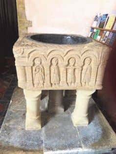 2018 Page 8 St Margaret's Church Breccles Historic Font The restoration of the Norman and medieval