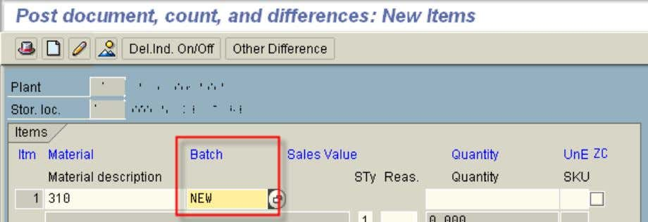 SAP123 - Split Valuation Note that the batch field is used! 5. Stock Overview - MMBE