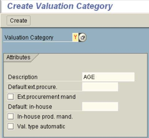 2. Create Valuation Category Select: Global Categories The Ext Mandatory option will force users to enter