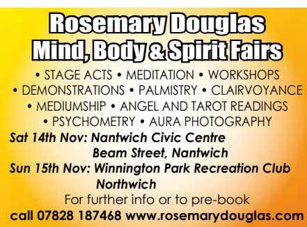 Rosemary Douglas Mind, Body & Spirit Fairs • STAGE ACTS • MEDITATION • WORKSHOPS •