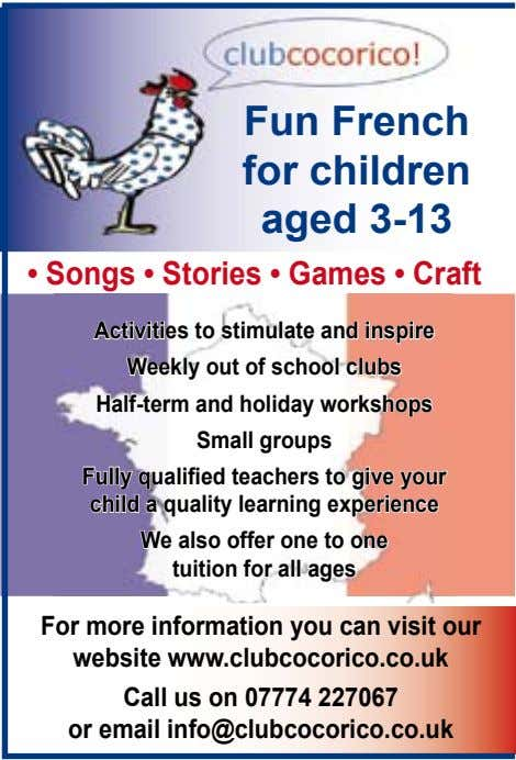 Fun French for children aged 3-13 • Songs • Stories • Games • Craft Activities