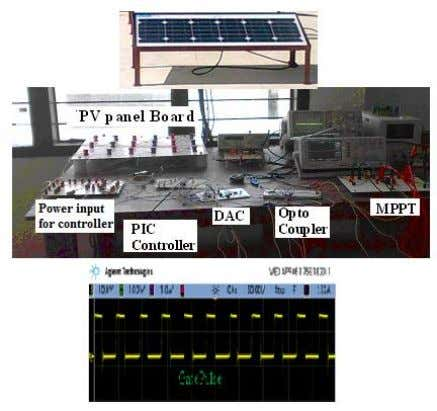 of the circuit can be avoided with quicker response. Fig.23.Hardware of MPPT with microcontroller unit with