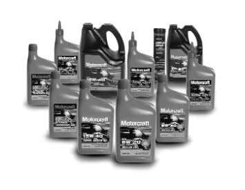 Motorcraft oil stands up to the tests of both Ford and independent engineers. 10 Scheduled Maintenance