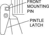 FRONT MOUNTING PIN PINTLE LATCH