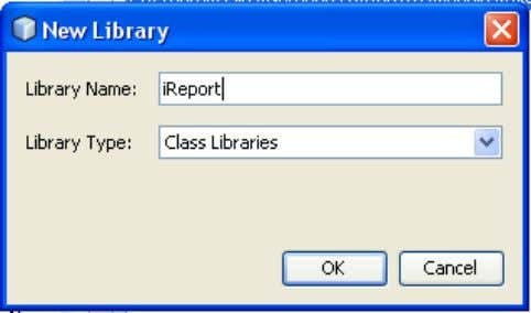 "2.3 Isi Library Name (ex: ""iReport"") 2.4 Klik Add JAR/Folder… 2.5 Buka folder""ext"" di tempat instalasi"