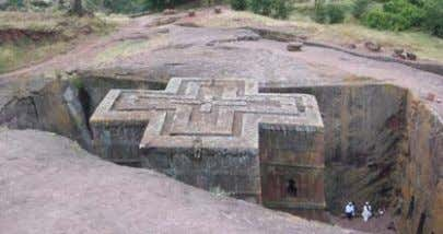 before and after conversion to Christianity British Museum Source 6: Church of St George, Lalibela, Ethiopia,