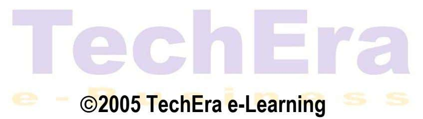 2005 TechEra e-Learning
