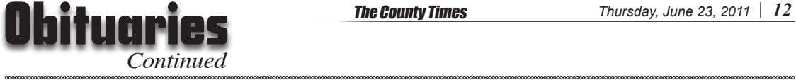 The County Times Thursday, June 23, 2011 12 Continued