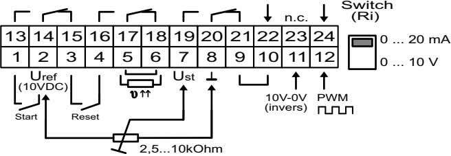 internal voltage supply 23 not connected Option: /UM Switching mode (phase an- gle or multicycle