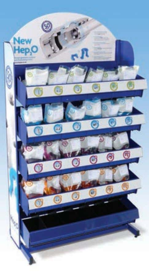 purple bag! Figure 24: Colour-coded packaging is designed to make product selection easier Hep 2 O