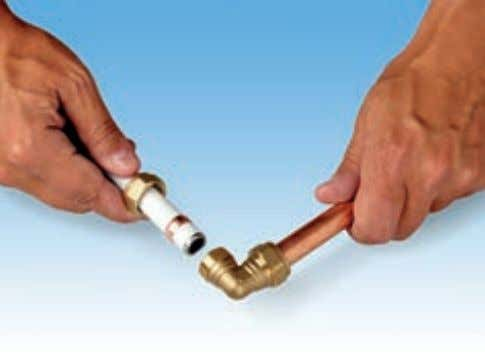 to a compression fitting Insert support sleeve into pipe Ensure pipe is fully inserted Note: Apply