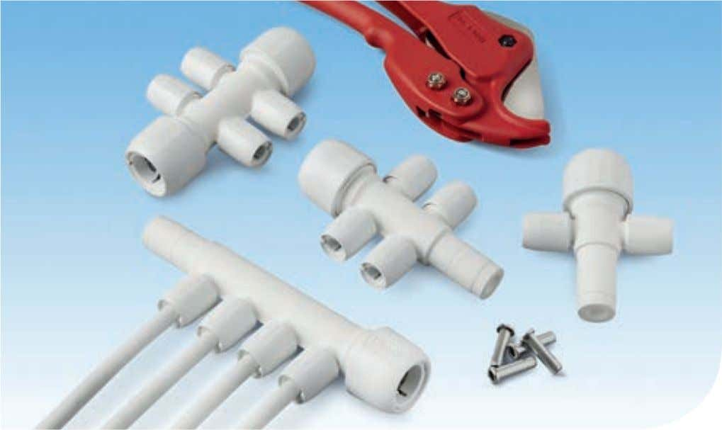 manifolds are used to connect multiples of 10mm or 15mm pipe Cutting a manifold spigot end