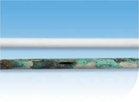 scale build-up Easy cabling. Fewer joints Measure and cut in-situ No bursts. Corrosion free 8 Hep