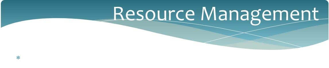 Resource Management 
