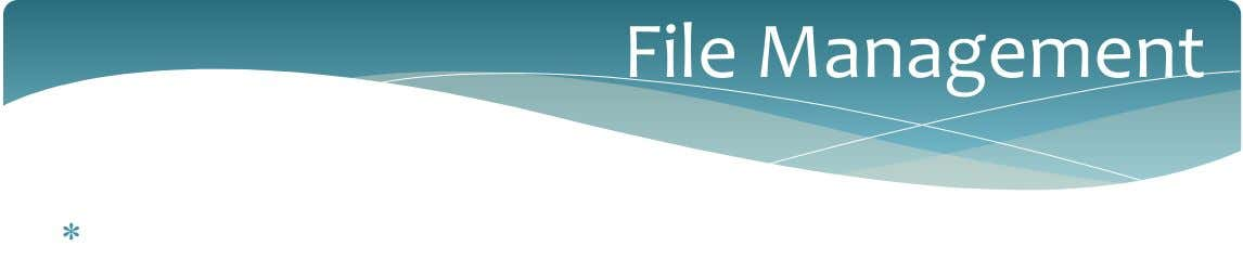 File Management 