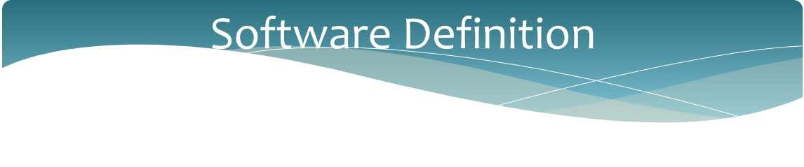 Software Definition