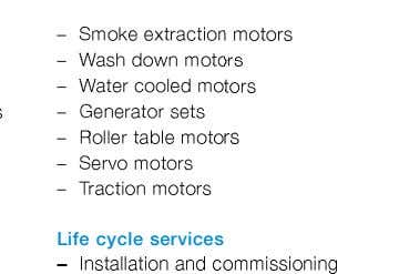 Life cycle services