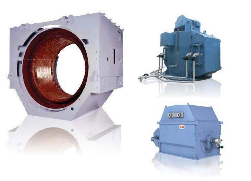 For maximum flexibility, ABB synchronous motors are designed for horizontal, inclined or vertical mounting (vertical