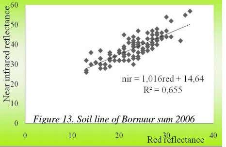 Figure 13. Soil line of Bornuur sum 2006