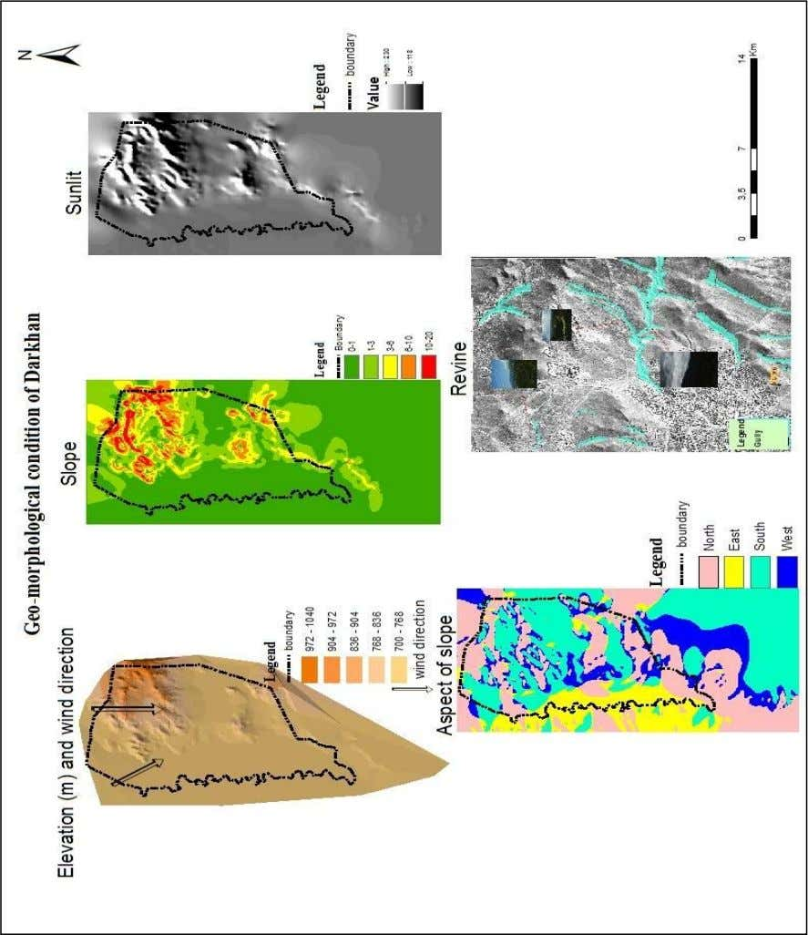 on Application Remote Sensing and Space Science in Mongolia Map 1. Description of natural impact of