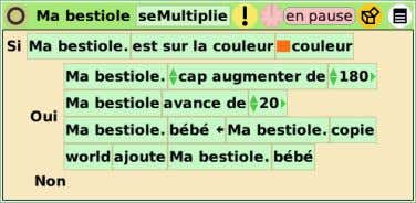 Les bestioles se multiplient Modifions maintenant le script : nous allons donner ‡ la variable la