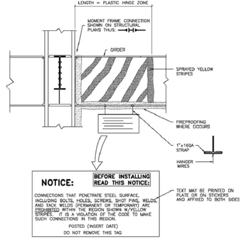 subcontractors prior to commencement of construction work. Figure 3. Protected Zone NOTE: While the AISC 341-05