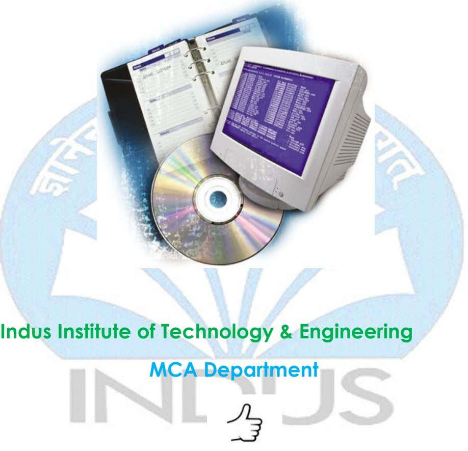 Indus Institute of Technology & Engineering MCA Department