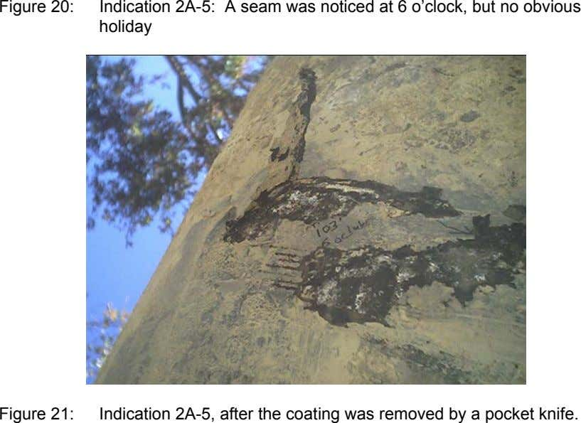 Figure 20: Indication 2A-5: A seam was noticed at 6 o'clock, but no obvious holiday