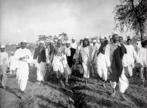 "his appearance was deceptive—he ""walked four or 58 Gandhi and others on the Salt March, March"
