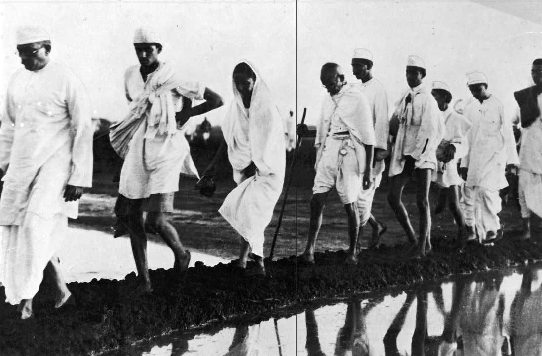 salt and the march to freedom 60 Gandhi and others on the Salt March, 1930. Photographer